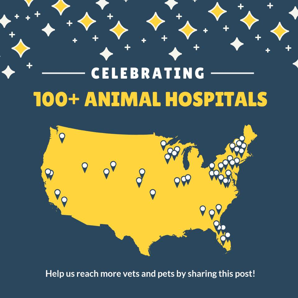 Pawprint Oxygen is now in 100+ Animal Hospitals